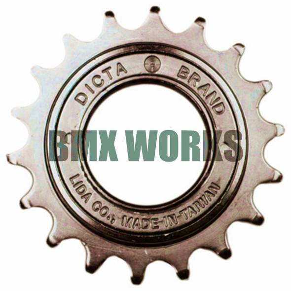 "Dicta 1/2"" x 1/8"" Free Wheel - Brown 16T"