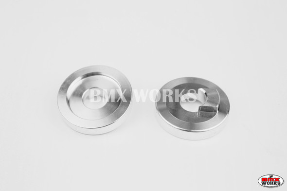 """ProBMX Alloy Front Dropout Savers for 3/8"""" Axles Silver Pair"""