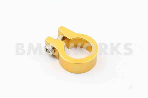 Seat Clamp Gold 25.4mm Anodized Aluminium Single Bolt