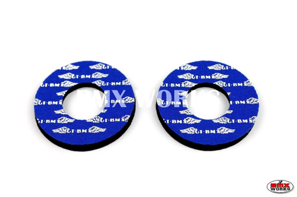 ProBMX Flite Style GT Race Wings Blue & White Grip Donuts