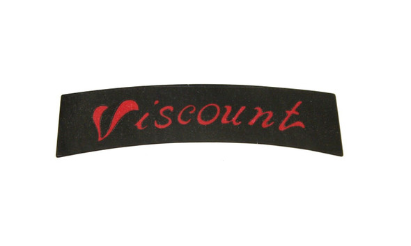Viscount Seat Decal - Black with Red Print