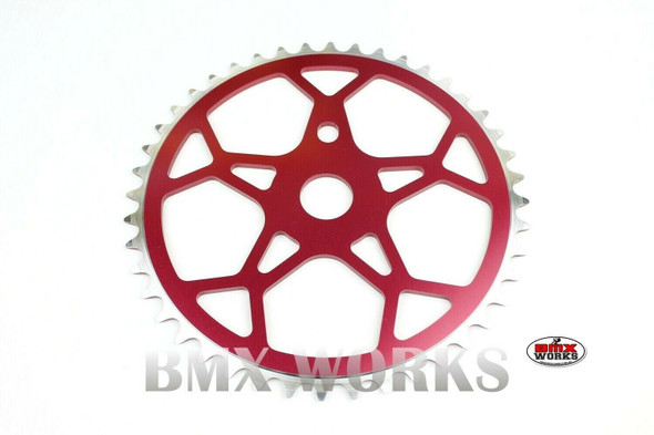 ProBMX Snowflake BMX Chainwheel 44 Teeth - Red