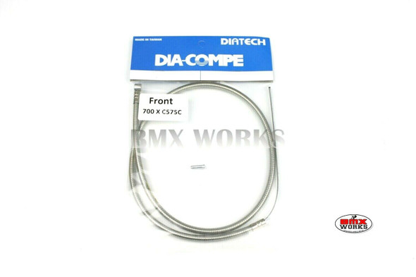 Dia-Compe BMX Logo Front Brake Cable Clear