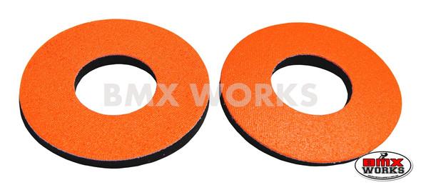 ProBMX Flite Style BMX Bicycle Foam Grip Donuts - Orange Pairs