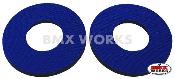 ProBMX Flite Style BMX Bicycle Foam Grip Donuts - Blue Pairs