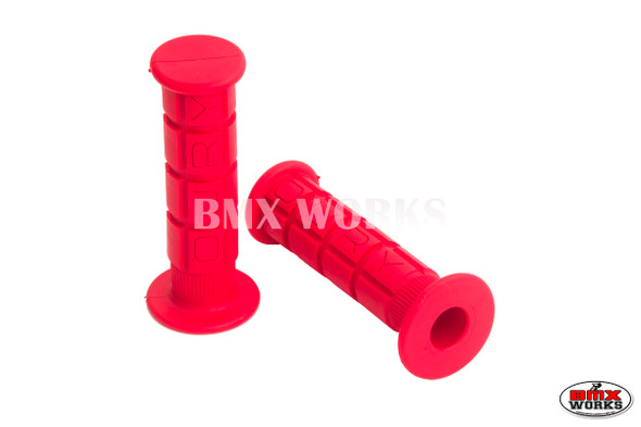 Oury Downhill or BMX Low Flange Grips - Pair - Red