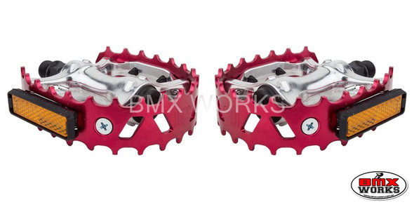 """Pedals 9/16"""" VP Bear Trap Red Pair"""