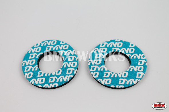 ProBMX Flite Style Dyno Aqua & White Grip Donuts