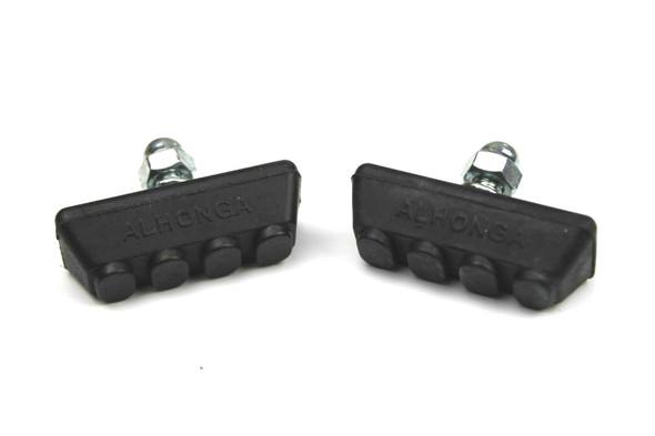 BMX Freestyle or Race Bicycle Brake Pads - Black Pairs