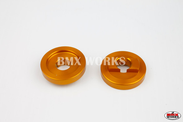 """ProBMX Alloy Rear Dropout Savers for 3/8"""" Axles Gold Pair"""