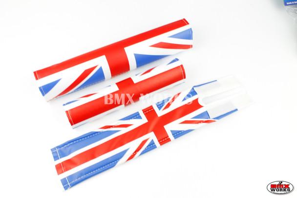 FLITE 3 Piece Nylon BMX Padset - Union Jack Flag Design