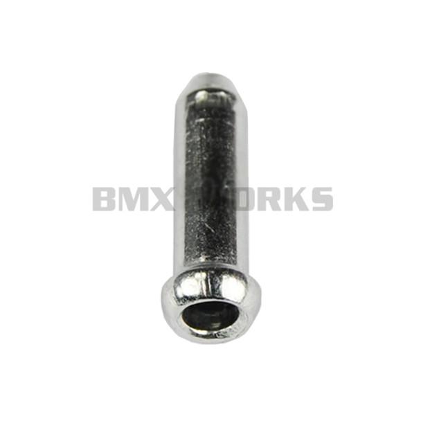 Brake Cable End Cap 3.2mm x 15mm Silver Aluminium