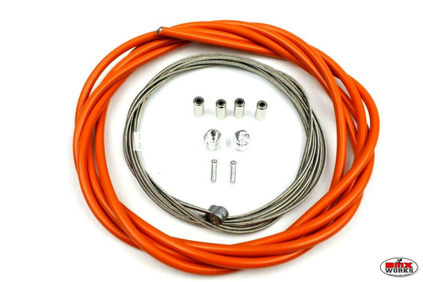 BMX Brake Cable Front & Rear Kit Orange