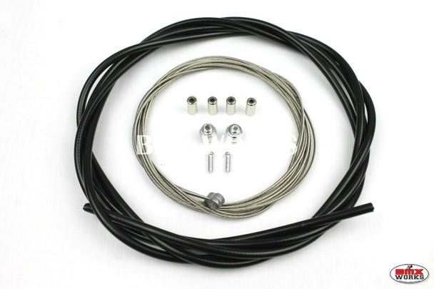 BMX Brake Cable Front & Rear Kit Black