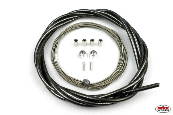 BMX Brake Cable Front & Rear Kit Braided Black