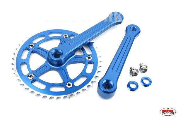 ProBMX Square Taper Crank Set 170mm Blue