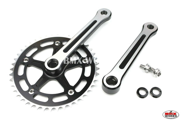 ProBMX Square Taper Crank Set 170mm Black with Linished Face