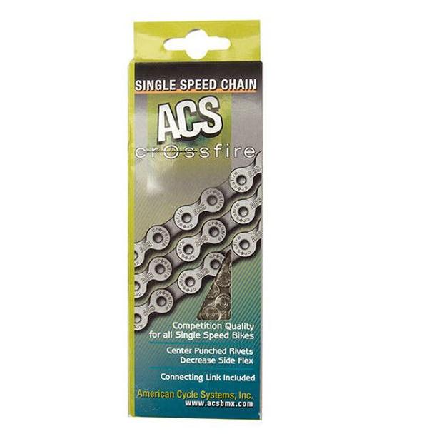 "ACS 1/2"" x 1/8"" x 106 Link Nickel/Silver & Black Chain"