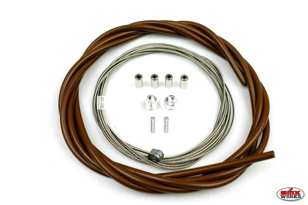 BMX Brake Cable Front & Rear Kit Brown