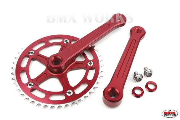 ProBMX Square Taper Crank Set 170mm Red