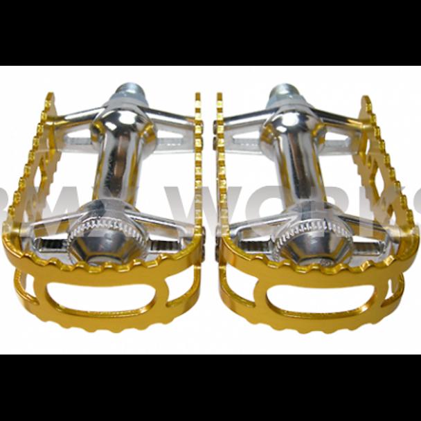 "MKS BM-7 Pedals 9/16"" Gold"