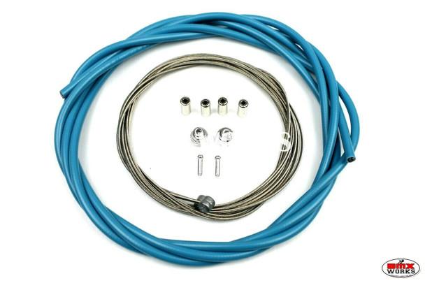 BMX Brake Cable Front & Rear Kit Aqua