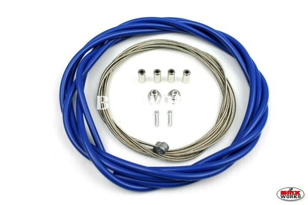 BMX Brake Cable Front & Rear Kit Blue