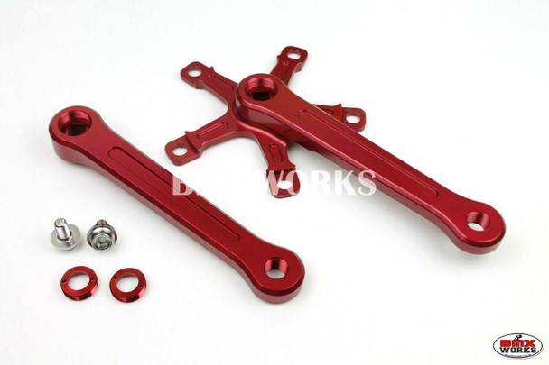 ProBMX Square Taper Crank Set 170mm Red  - (No Chainring)