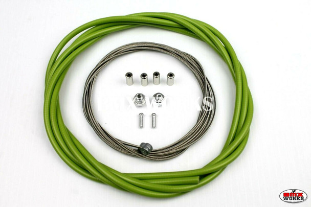BMX Brake Cable Front & Rear Kit Lime