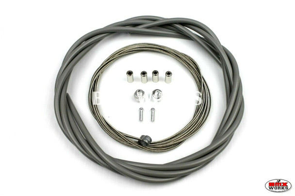 BMX Brake Cable Front & Rear Kit Grey