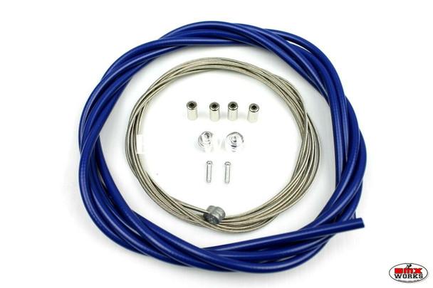 BMX Brake Cable Front & Rear Kit Dark Blue