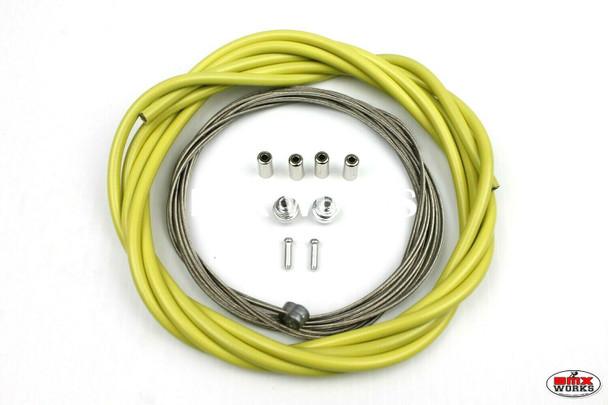 BMX Brake Cable Front & Rear Kit Lemon