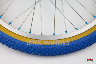 Panaracer Tyres BMX Package Dominator Seat /& AME Round Grips in Blue