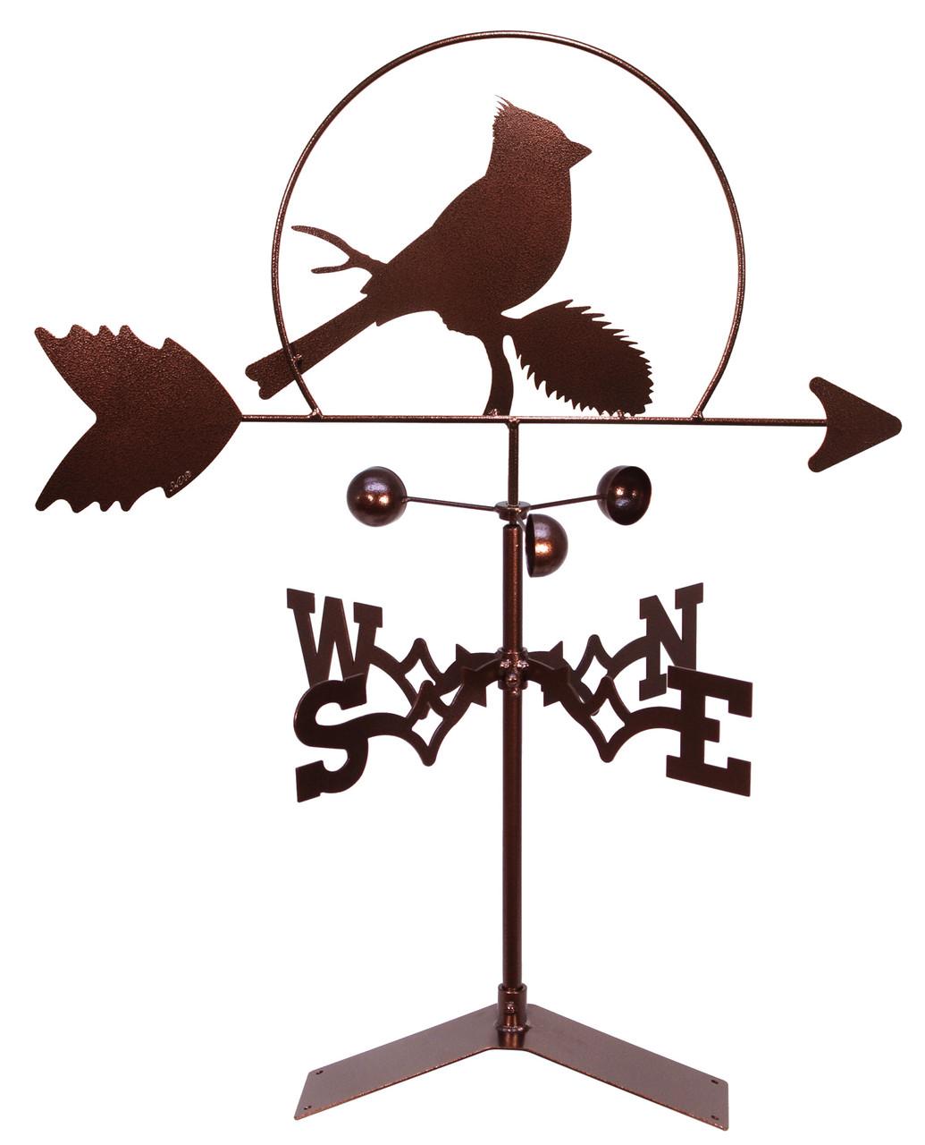 SWEN Products CARDINAL RED BIRD Steel Weathervane