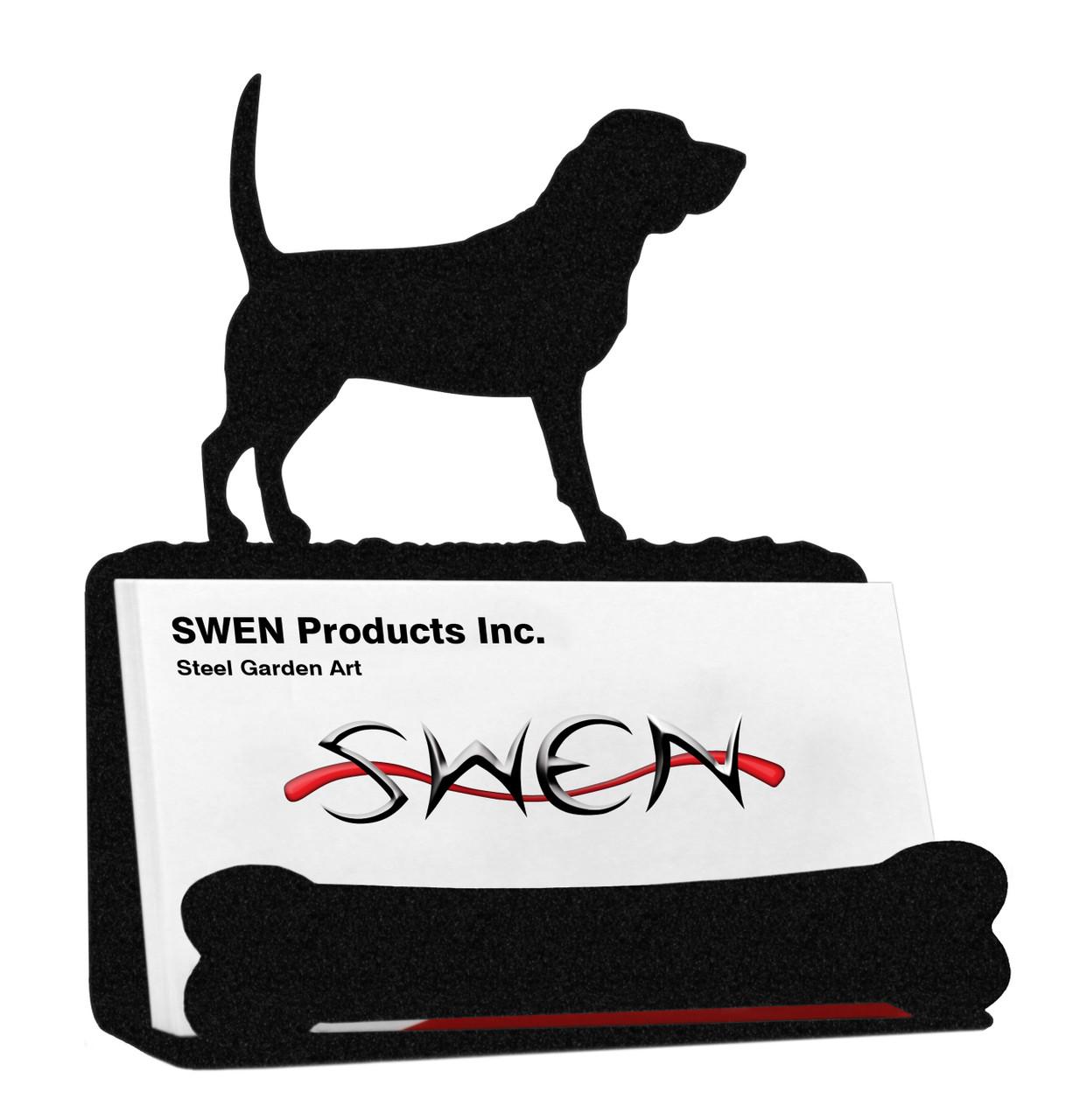 SWEN Products BOSTON TERRIER Dog Black Metal Business Card Holder