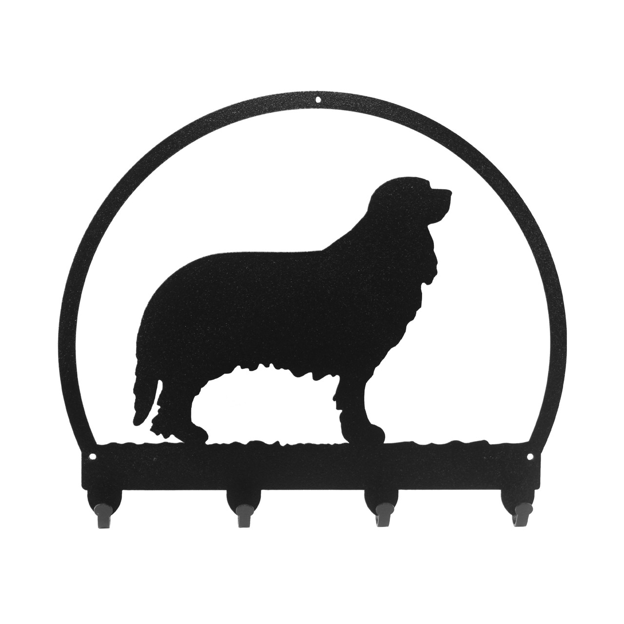 SWEN Products POODLE Dog Black Metal Key Chain Holder Hanger
