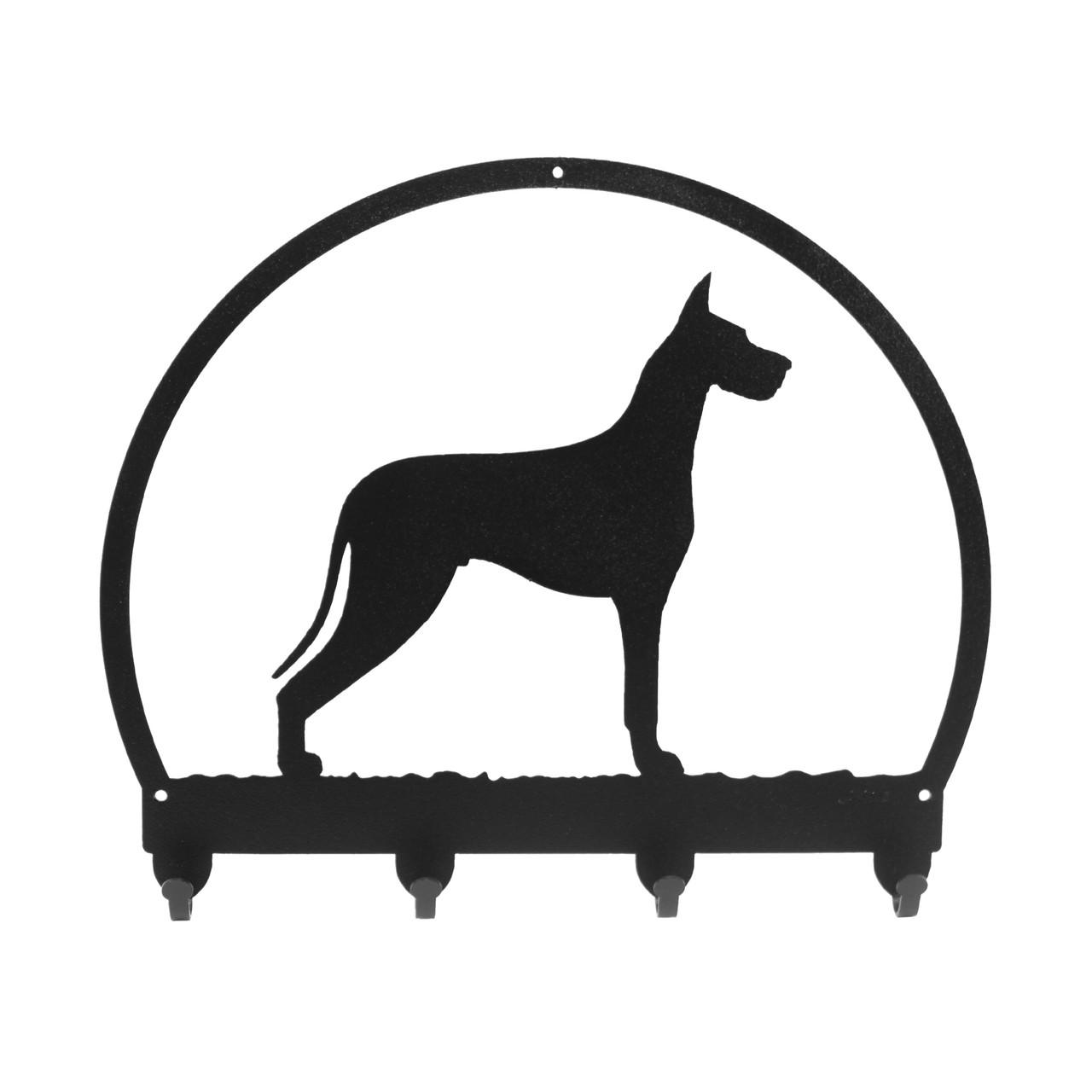 SWEN Products SCOTTISH TERRIER Dog Black Metal Key Chain Holder Hanger