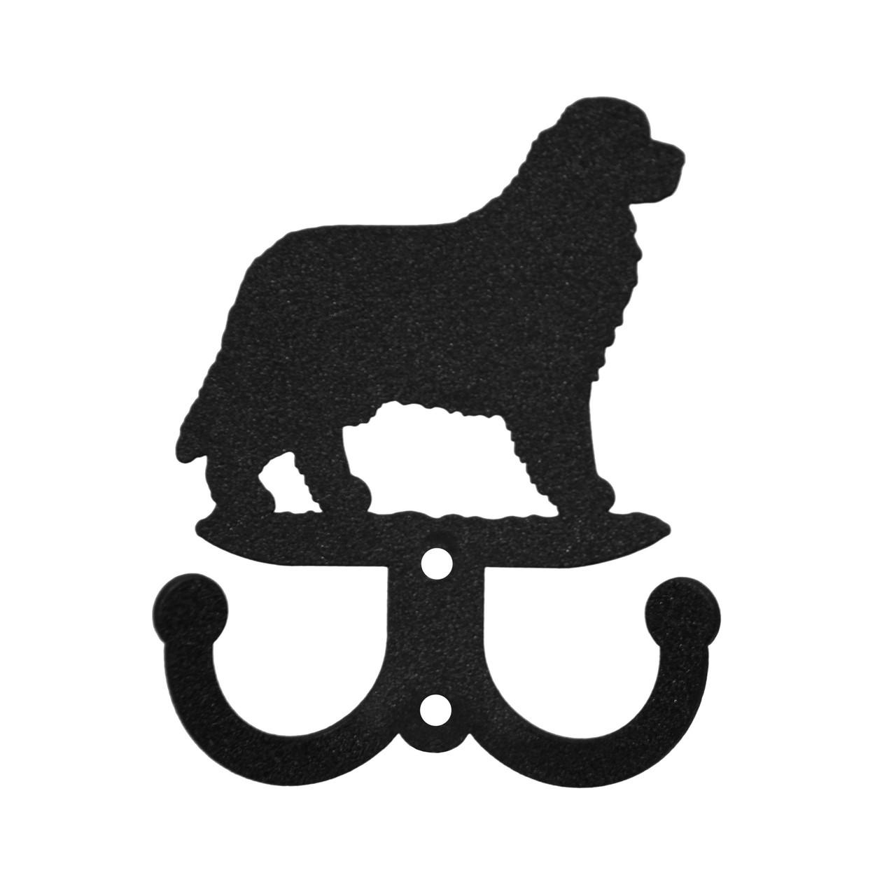 SWEN Products NEWFOUNDLAND Dog Black Metal Business Card Holder
