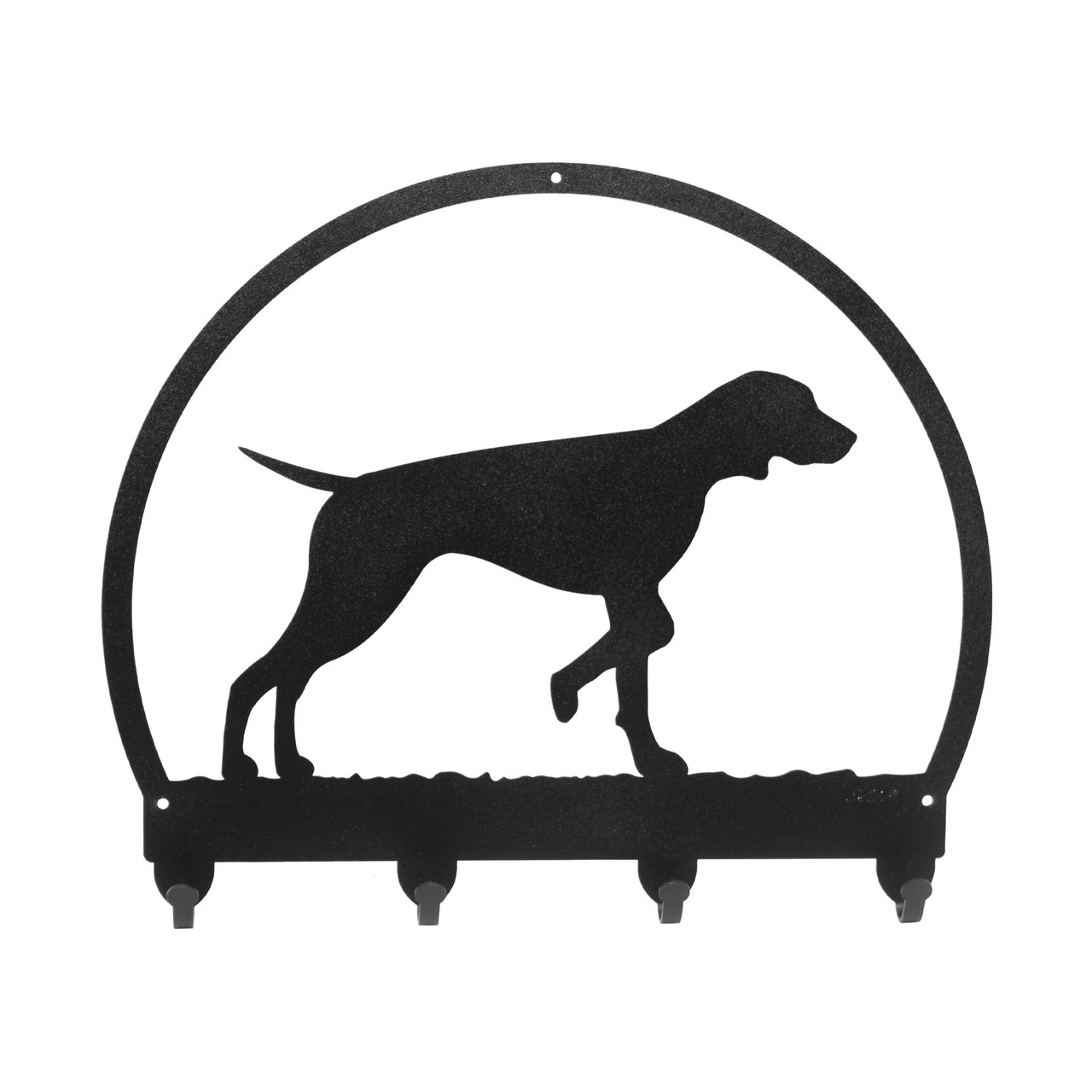 SWEN Products AIREDALE Dog Black Metal Key Chain Holder Hanger