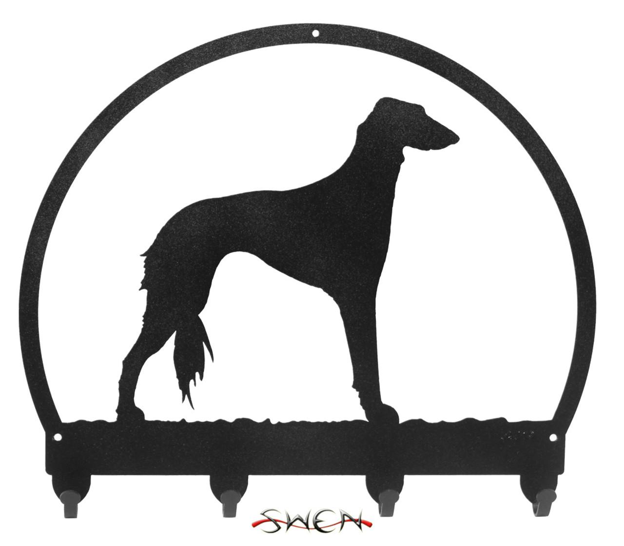 SWEN Products PAPILLON Dog Black Metal Key Chain Holder Hanger