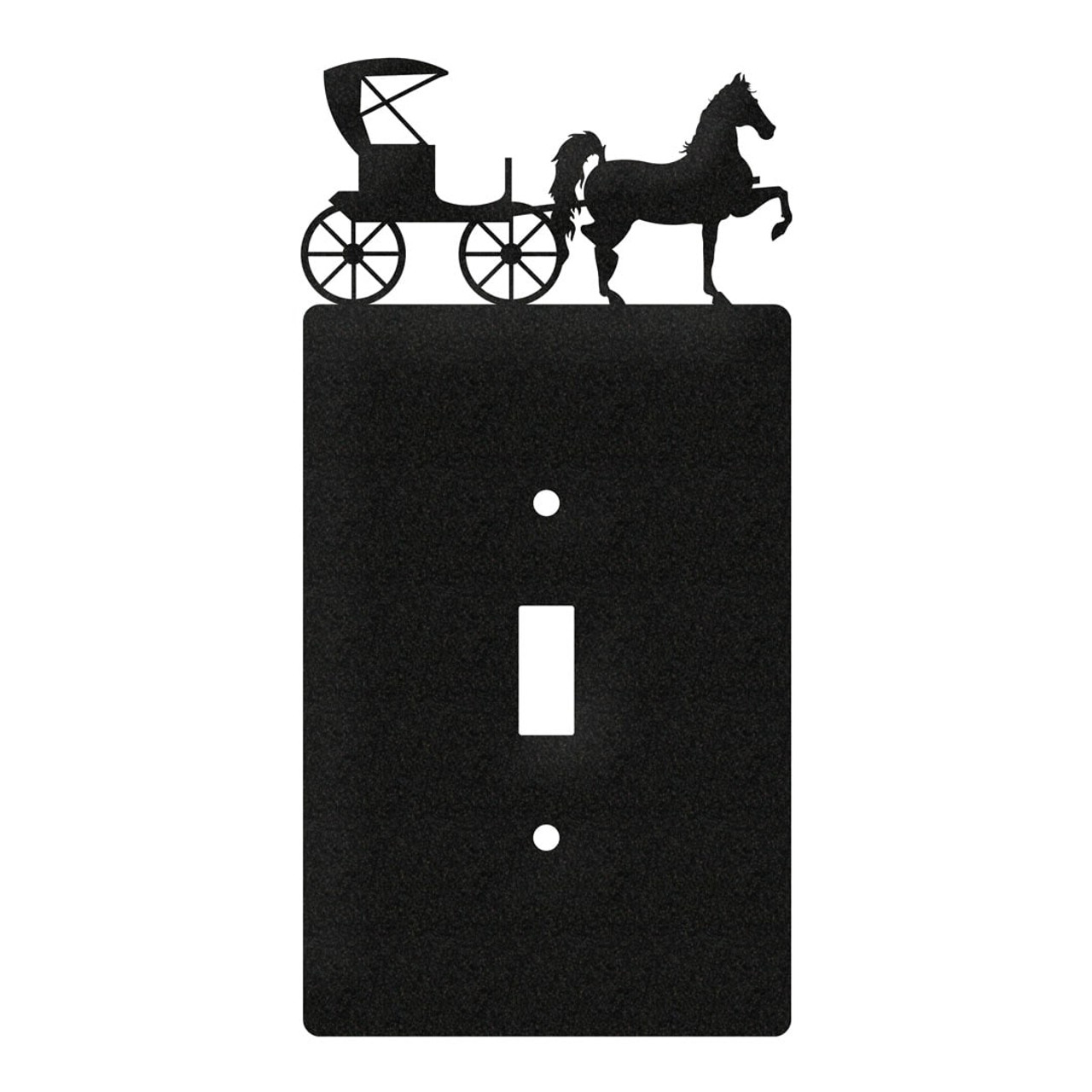 Horse And Buggy Amish Metal Plate Cover Swen Products