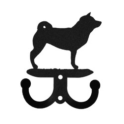 SWEN Products CHOW CHOW Dog Black Metal Letter Napkin Card Holder