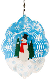 SWEN Products HOLIDAY SANTA CHRISTMAS Swirly Metal Wind Spinner