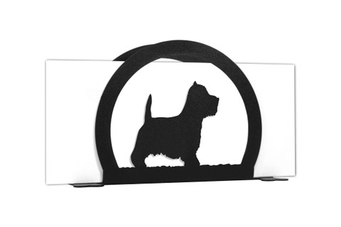 WESTIE TERRIER Dog Metal Letter Holder Napkin Holder