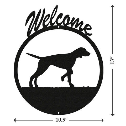 English Pointer Dog Metal Welcome Sign Swen Products