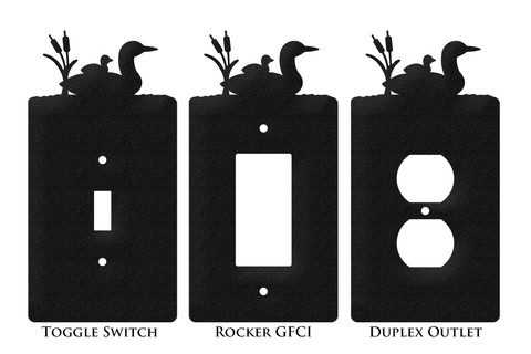 Loon Duck Bird Metal Plate Cover Swen Products