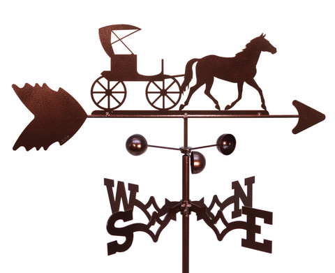 Horse And Buggy Carriage Amish Weathervane Swen Products