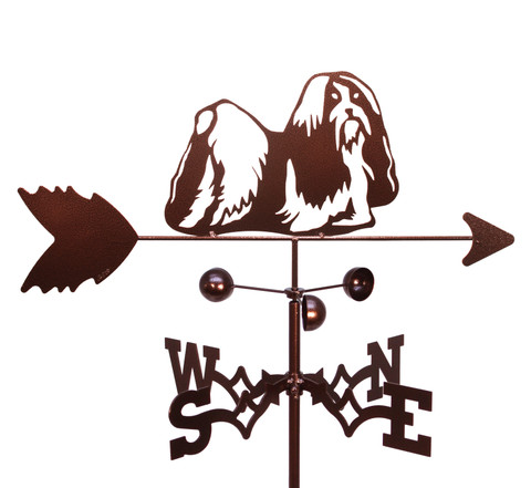 Shih Tzu Dog Black Metal Business Card Holder