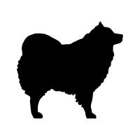Spitz Samoyed American Eskimo Logo