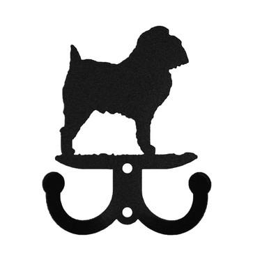 Brussels Griffon Dog Metal Wall Leash Holder Coat Hooks Swen Products
